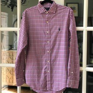 Ralph Lauren Men's Gingham LS Shirt